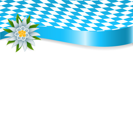 Banner in bavarian colors with edelweiss Stok Fotoğraf - 41781113