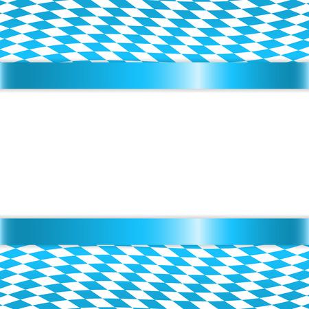 flagstaff: Banner in bavarian colors Illustration