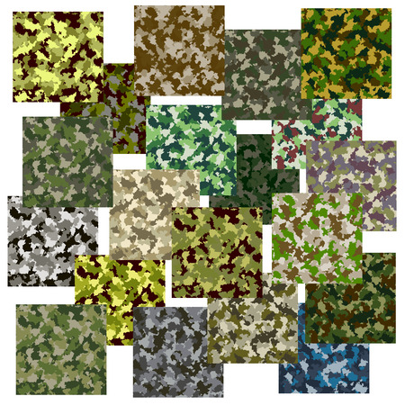 Set of seamless camouflage pattern Stok Fotoğraf - 41999389