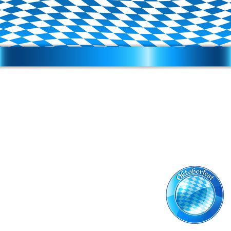 bavarian: Banner in bavarian colors Illustration