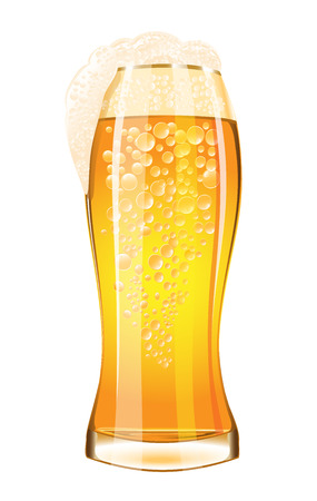 Glass of beer on a white background Stock fotó - 44007080