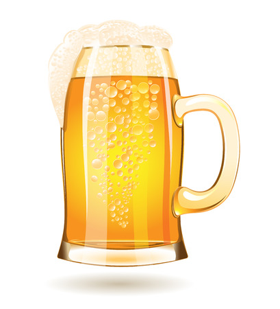 Mug of beer isolated on a white background Stok Fotoğraf - 44007082