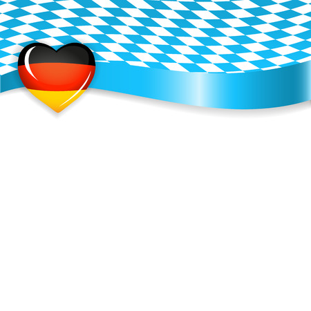 Banner in german and bavarian colors Stok Fotoğraf - 44671153
