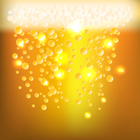 textur: Background as glossy beer textur with bubbles and foam
