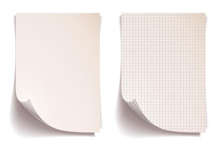 blatt: Sepia squared Notebook-Papier Illustration