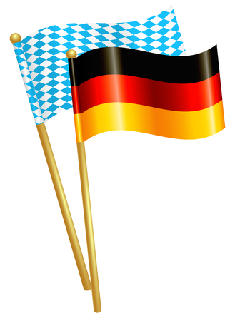 Germany and Bavaria flags Stok Fotoğraf - 60238715