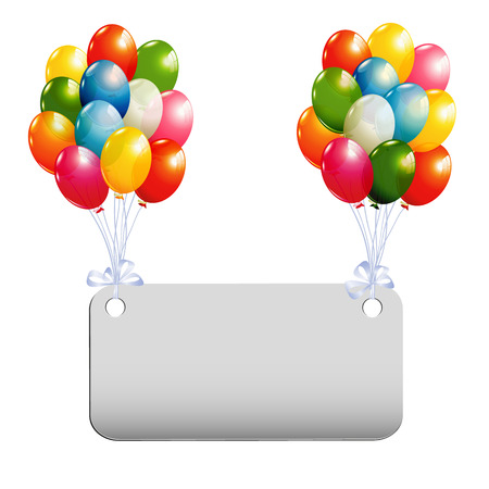 Banner with colorful balloons Stok Fotoğraf - 60238730