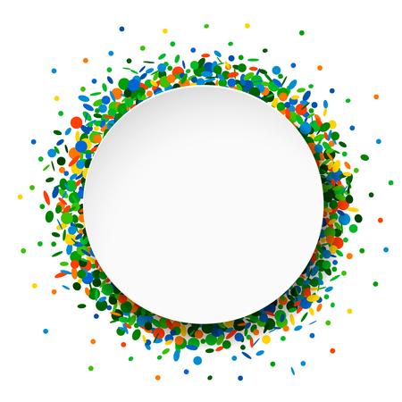 Confetti round frame Stok Fotoğraf - 60240685