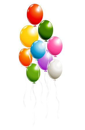 Colorful balloons isolated on white Stok Fotoğraf - 60240695