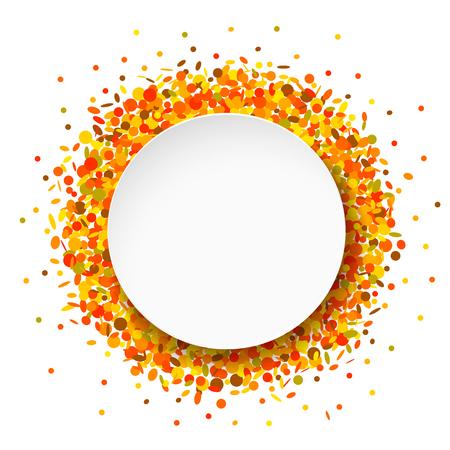 Confetti round frame