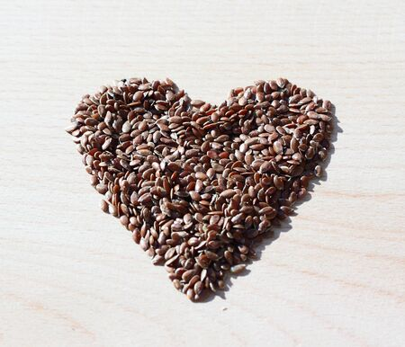 Shape of heart from seeds Stock Photo - 17360093
