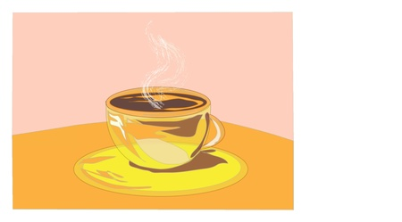 Cup of hot coffee Stock Vector - 18877776