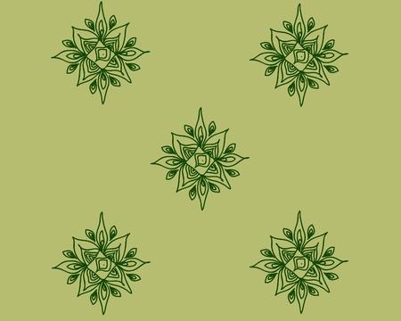octogonal: Elementos octogonal de color verde