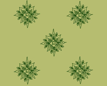 octagonal: Octagonal elements of green color Illustration