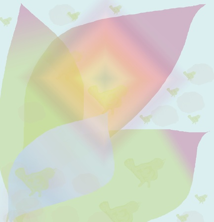 pastel tone:  Abstraction with vegetable elements