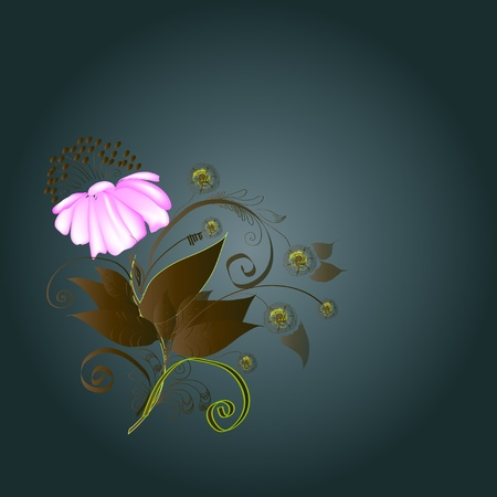 Background - composition with a flower Stock Vector - 21813959