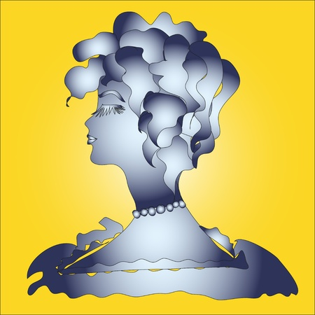 proud: Profile of the proud beauty  Vector illustration