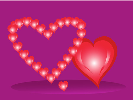 st valentine  s day: Three hearts by St  Valentine s Day Illustration