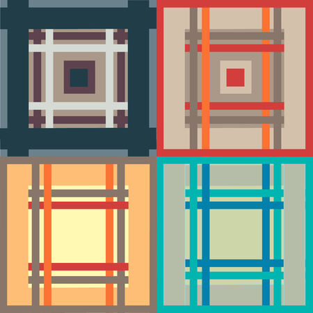 Seamless, illustration pattern from squares and rectangles  Illustration
