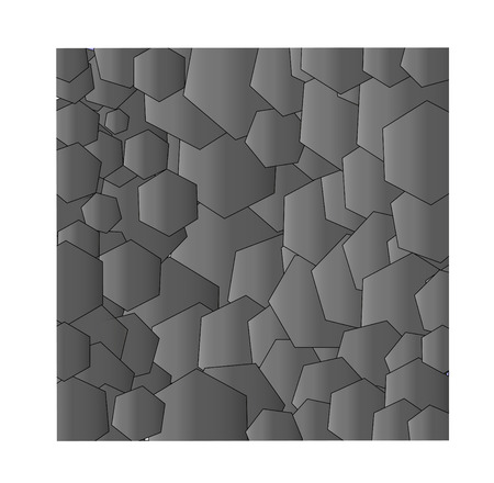 darkly: Darkly - a gray background from hexagons  Square illustration vector