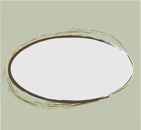 Abstract frame with decorative additions  Illustration