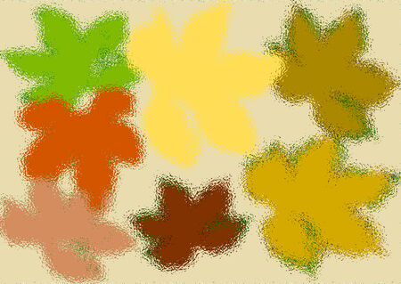 flew: Abstract image of grape leaves. Imitation flew down. Horizontally.
