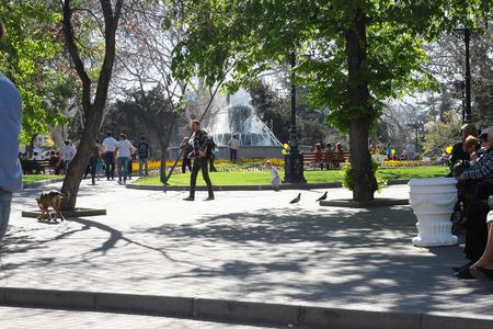 Residents of Sevastopol have a rest on Primorsk the boulevard. Crimea,  Sevastopol, 27.04.2013.