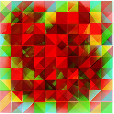 The geometrical abstract background consisting of a set of triangles.