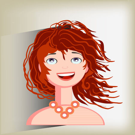 Emoties van vreugde en geluk op het gezicht van de vrouw
