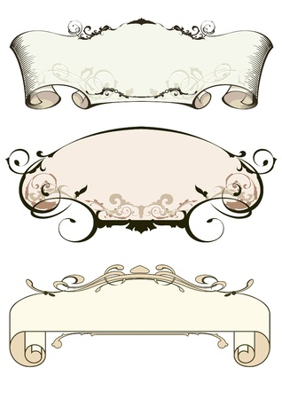 fancy border: design elements Illustration
