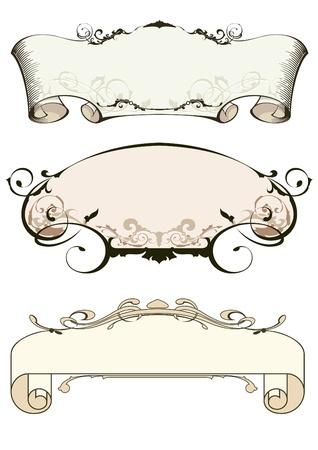 barroco: elementos de dise�o Vectores