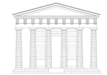roman empire: Classic temple Illustration
