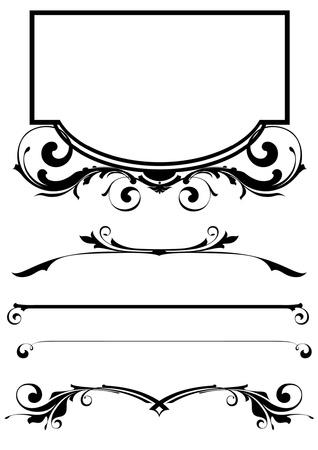 arabesque: set vettore di elementi di design