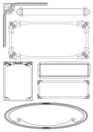 set of vector frame Illustration