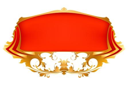 rood lint Stock Illustratie