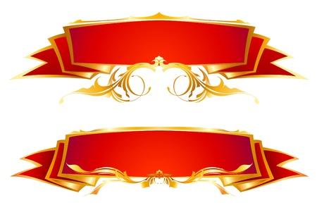 set van rode linten Stock Illustratie