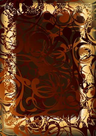 fretwork: gold frame Illustration