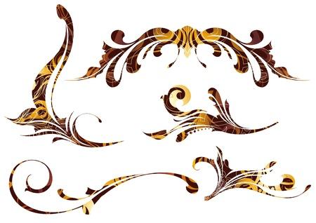 ontwerp elementen Stock Illustratie