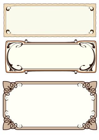 set of 3 frame