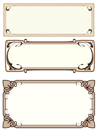 set of 3 frame Vector