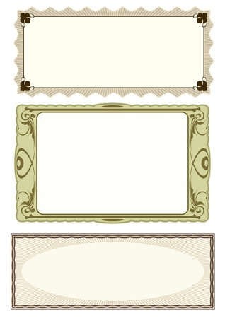 set of 3 frame Stock Vector - 12085128