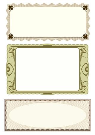 set of 3 frame Vector