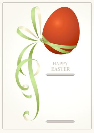 fancy border: Tarjeta de felicitaci�n de Pascua Vectores