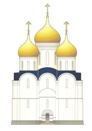 Russische kerk Vector Illustratie