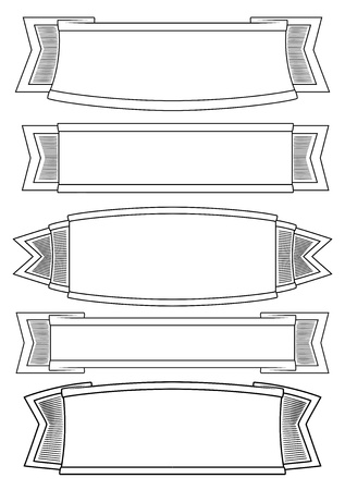 set of 5 banners Stock Vector - 12403896