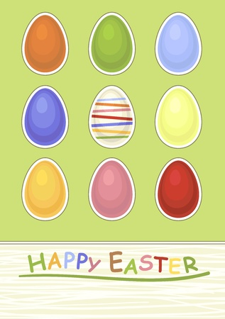 graphic display cards: easter background