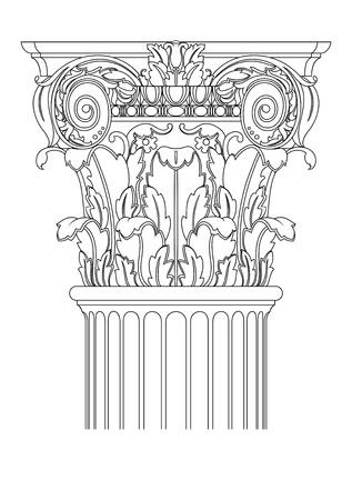 columnas romanas: columna clasic Vectores