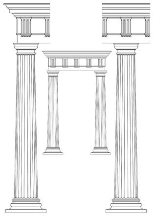 colonna romana: colonna classica Vettoriali