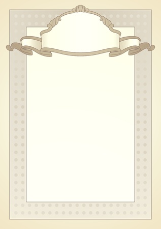 background in classic style Vector