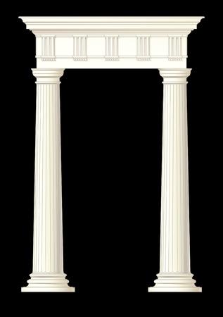 pilastri: disegno di illustrazione di elemento architettonico
